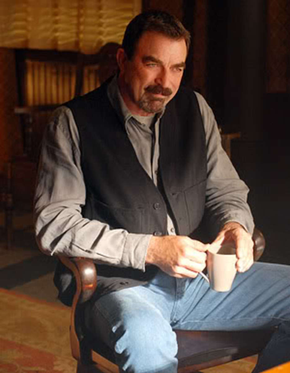 Tom Selleck taking a coffee break.