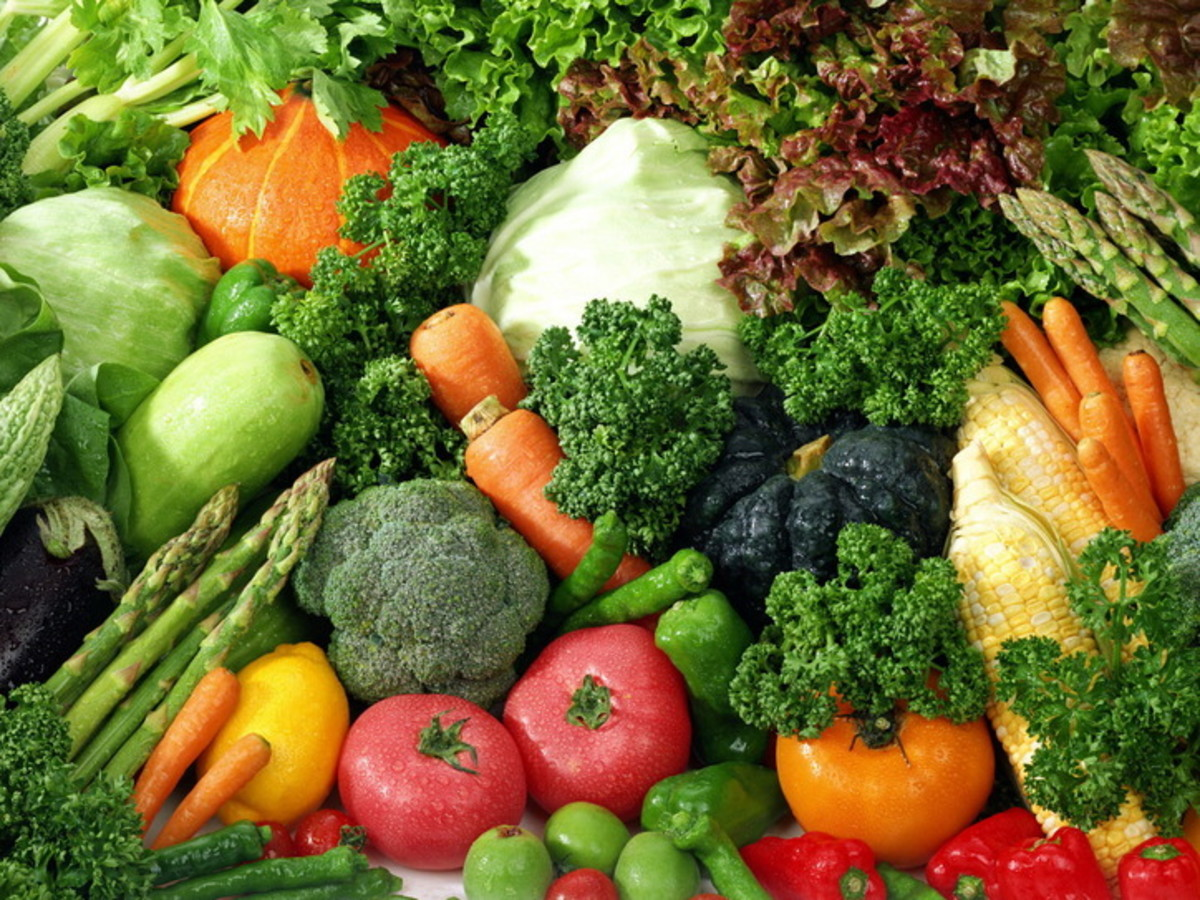 All the veggies pictured here have iron in them.