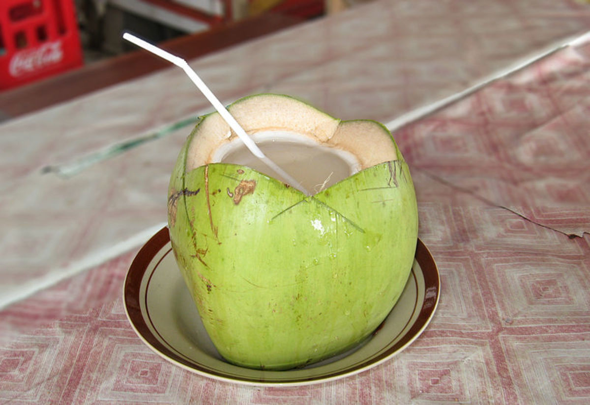 fresh from the young green coconut