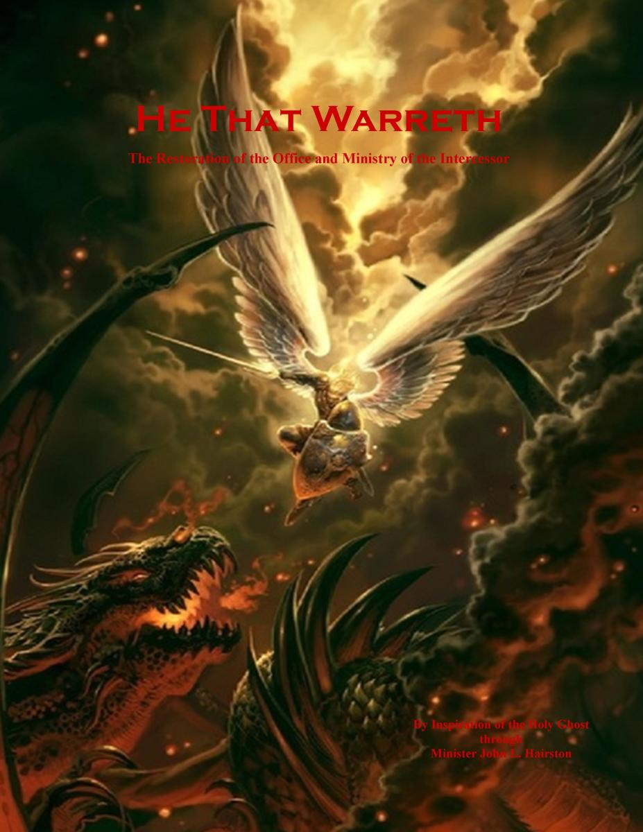 """HE THAT WARRETH"" BOOK COVER"