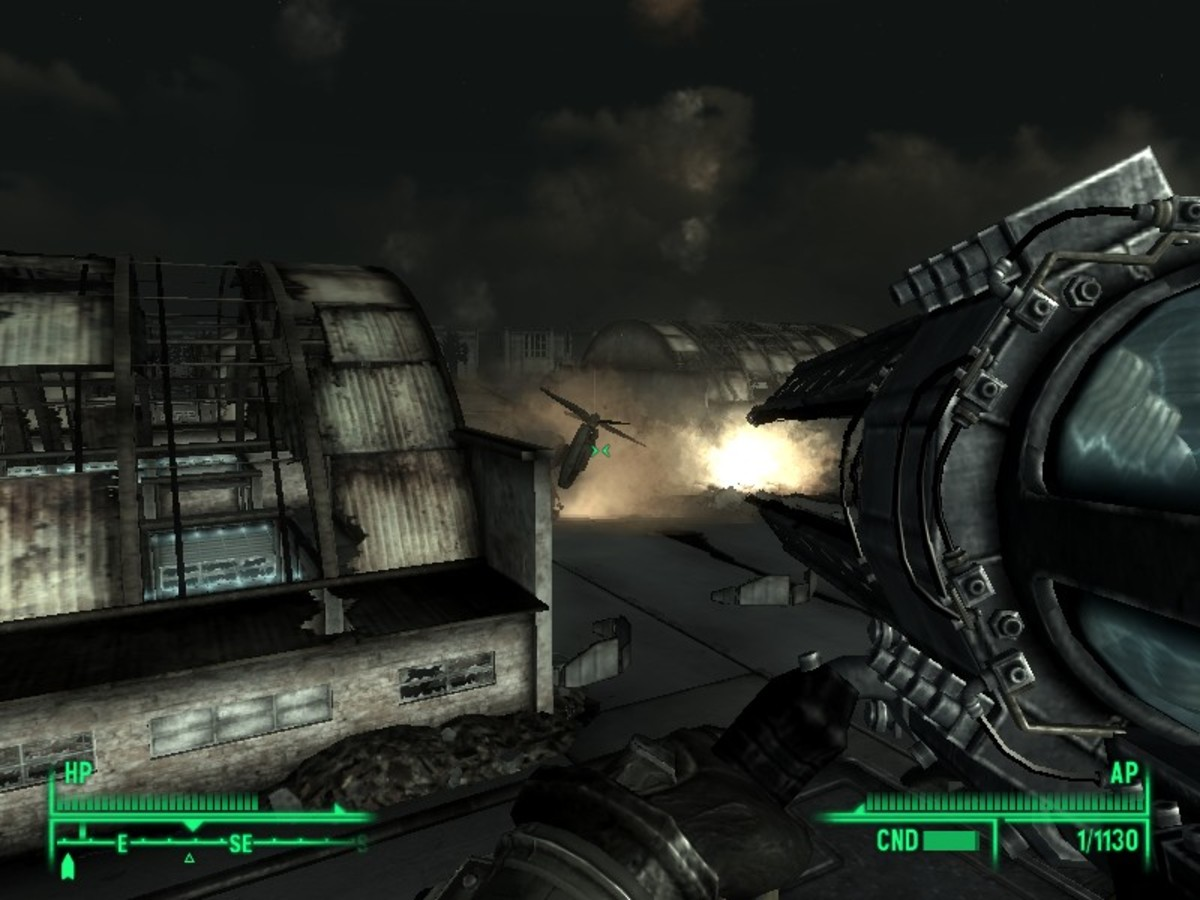 Some weapons have splash damage that will injure enemies in the vicinity of the blast.