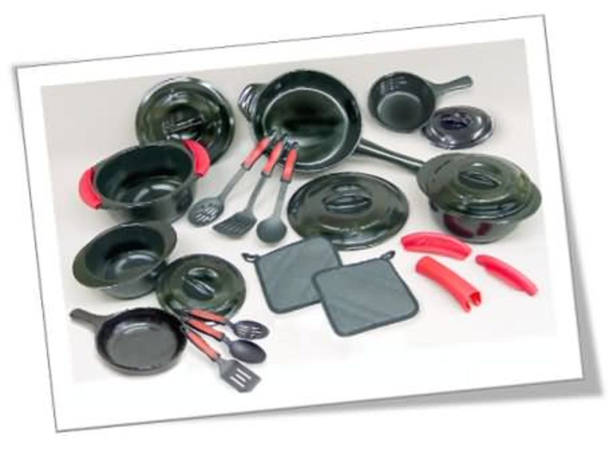 24 Piece 100% Ceramic (Non Scratch) Cookware Set