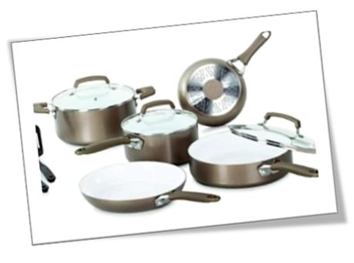 T-Fal WearEver Pure Living Nonstick Ceramic 10-piece set