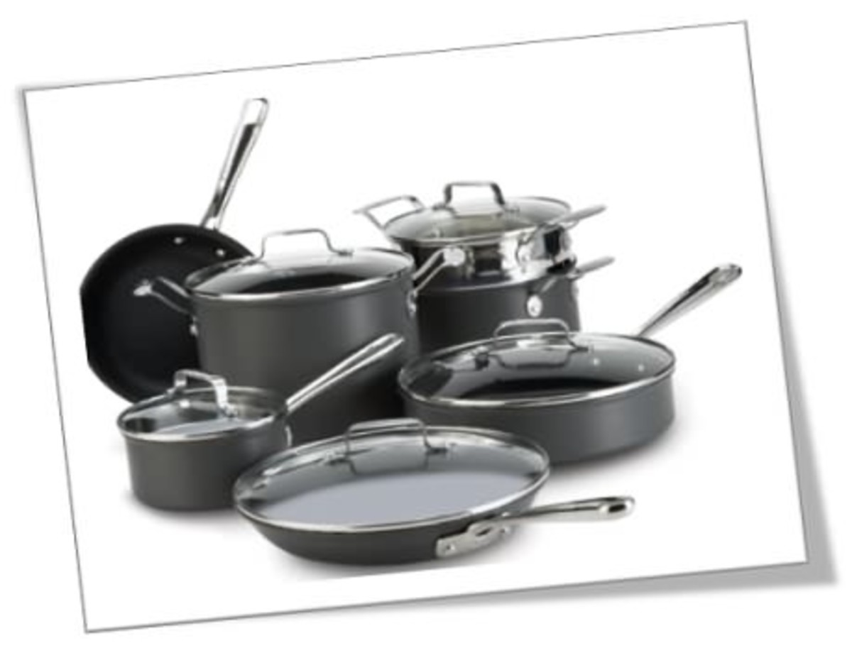 Emeril All-Clad Hard Anodized Nonstick 12-Piece cookware set