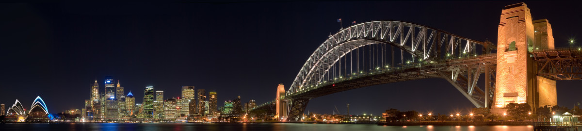 Producing panoramic images such as this Sydney Bridgephoto is a CPU intensive task, and needs a powerful processor.