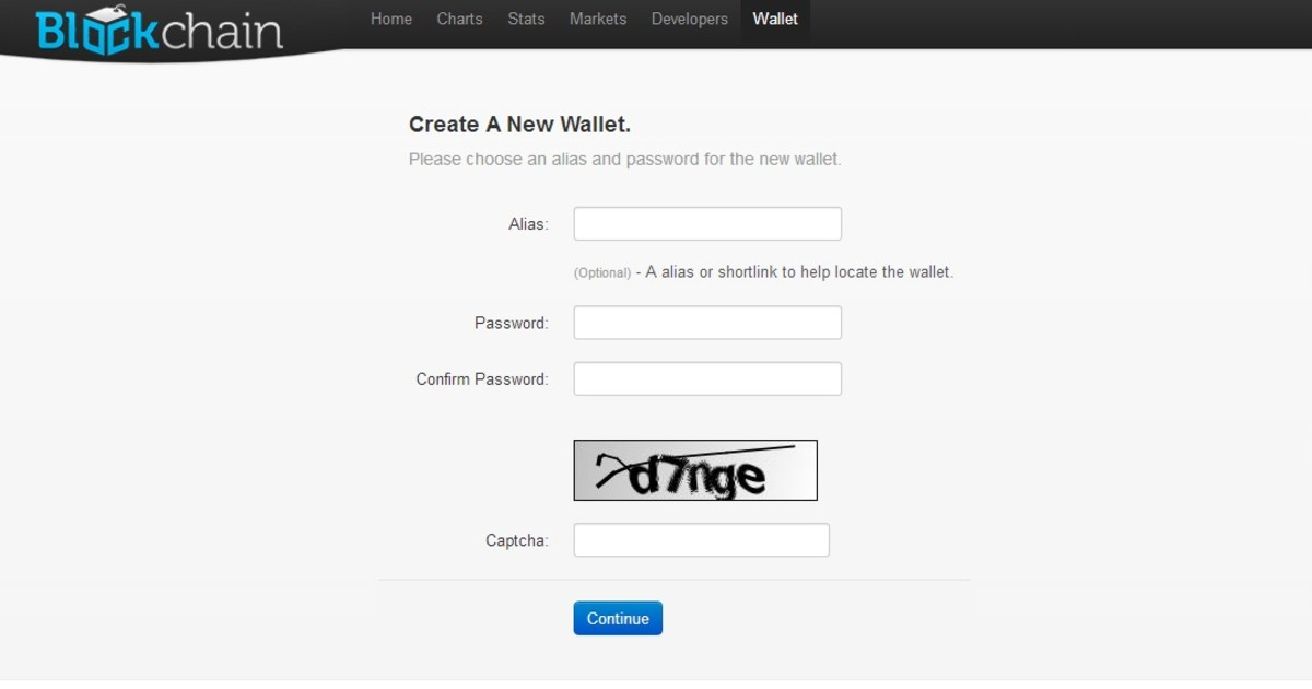 Creating an online wallet is very simple to do at Blockchain.info.