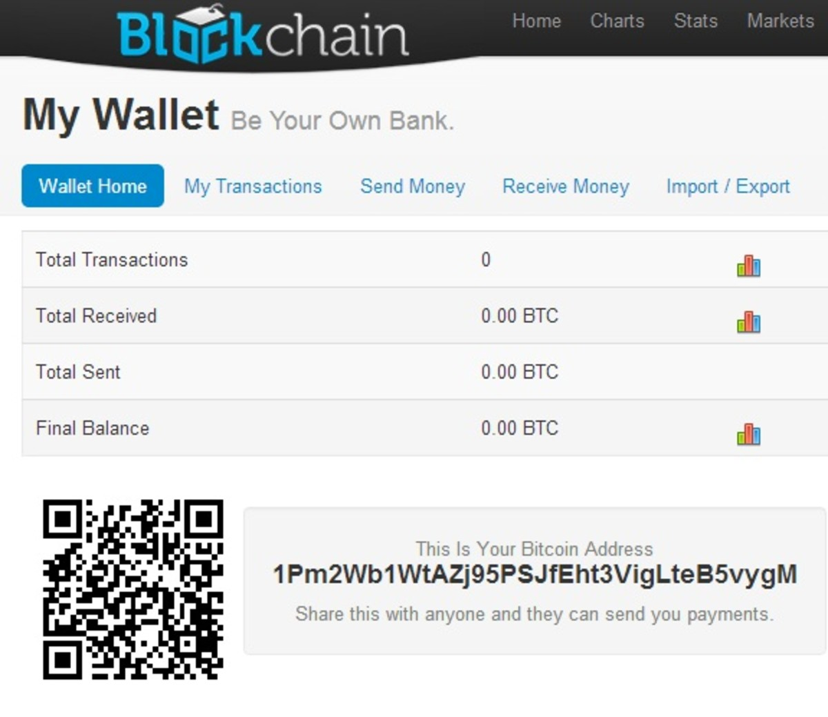 Once you have a wallet you can give out your address so people can send you Bitcoins!
