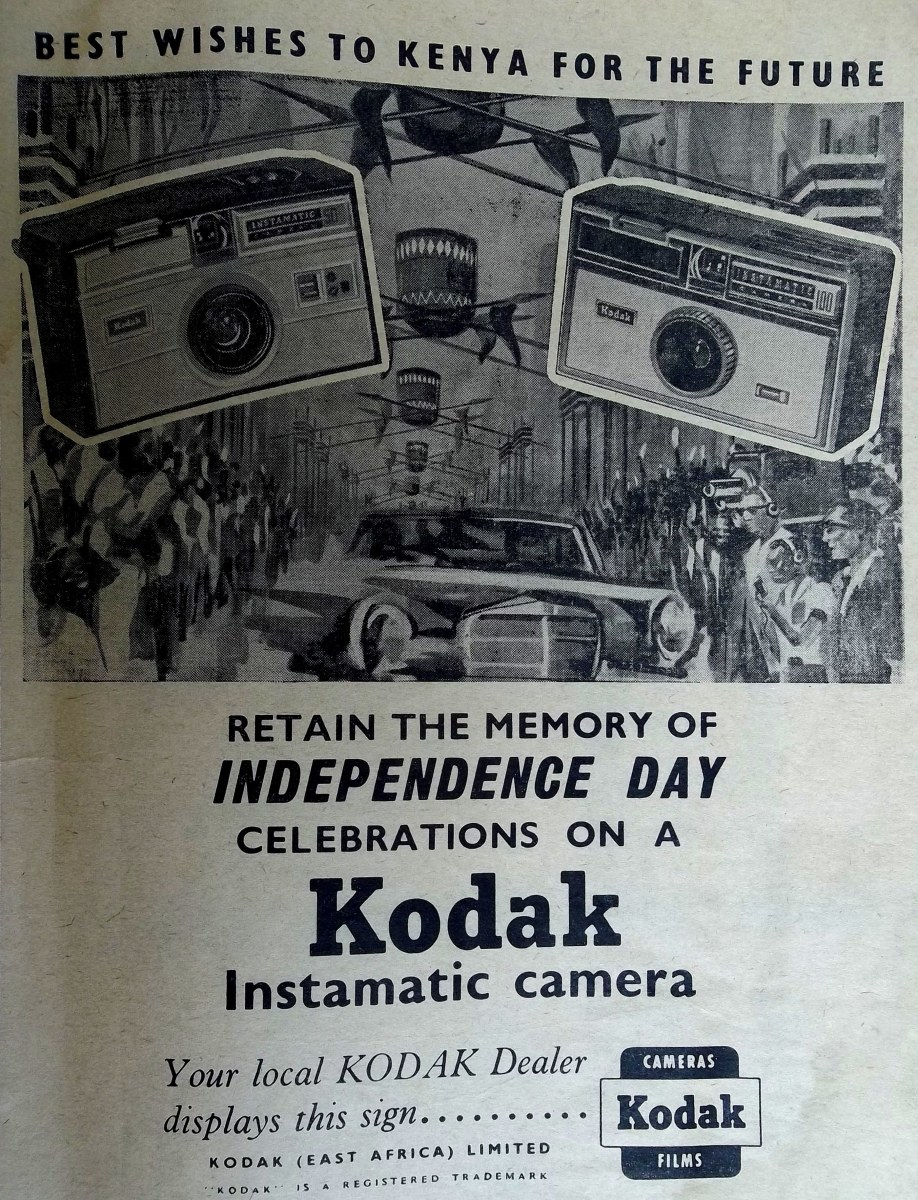 This was a perfect Independence day gift. 15 years later, instamatics wih their cartridge films and flash bulbs were still flying off the shelves in Nairobi
