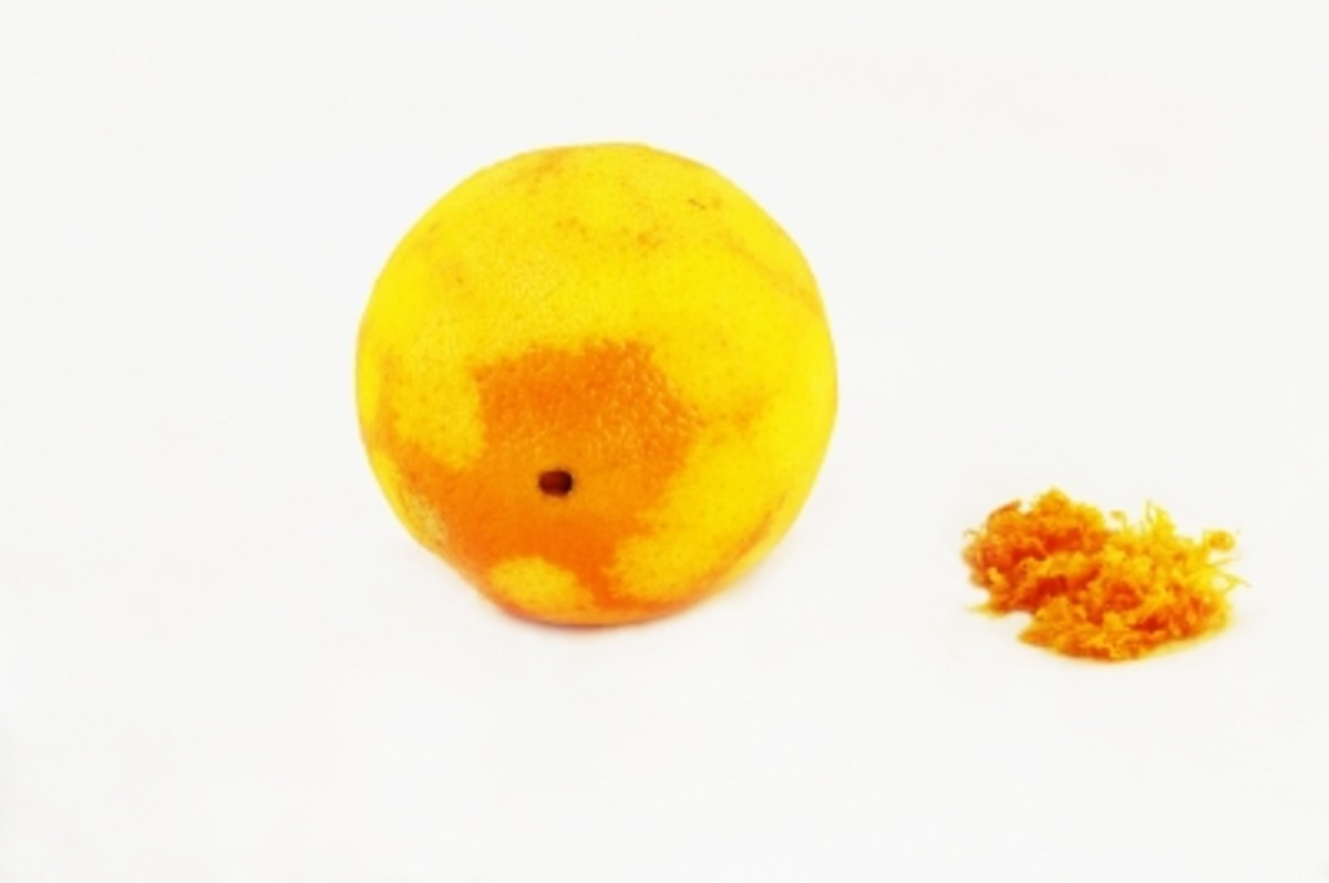 Orange zest is often used in desserts to give a strong citrusy flavour.
