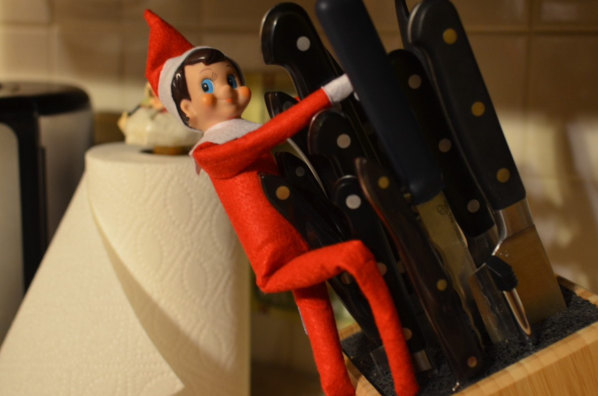 It was bound to happen.  If you don't check references, a bad elf is bound to slip through.  This one plays with knives.