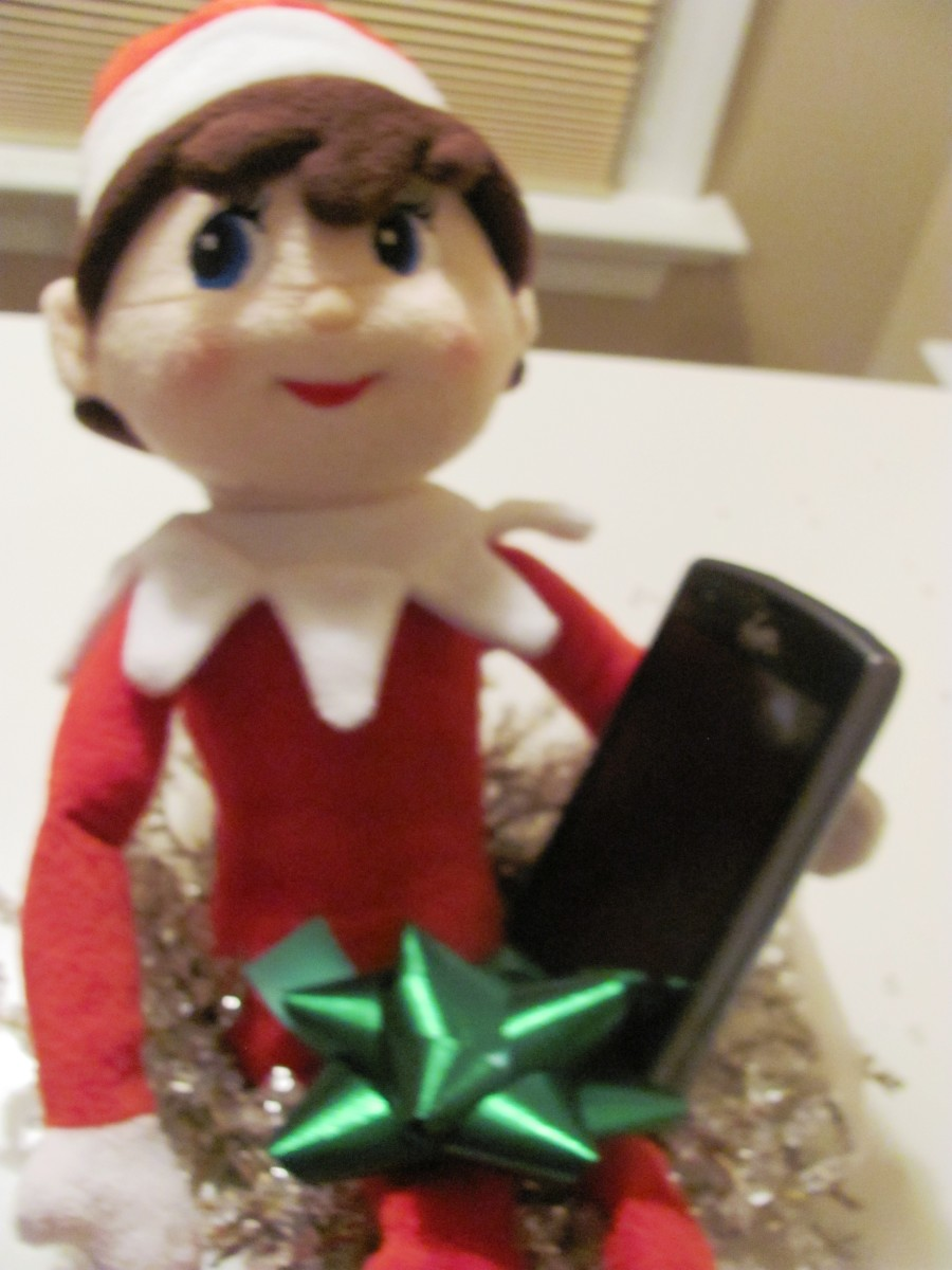 The elf sexted selfies to Gingerbread people and then posted them on-line.