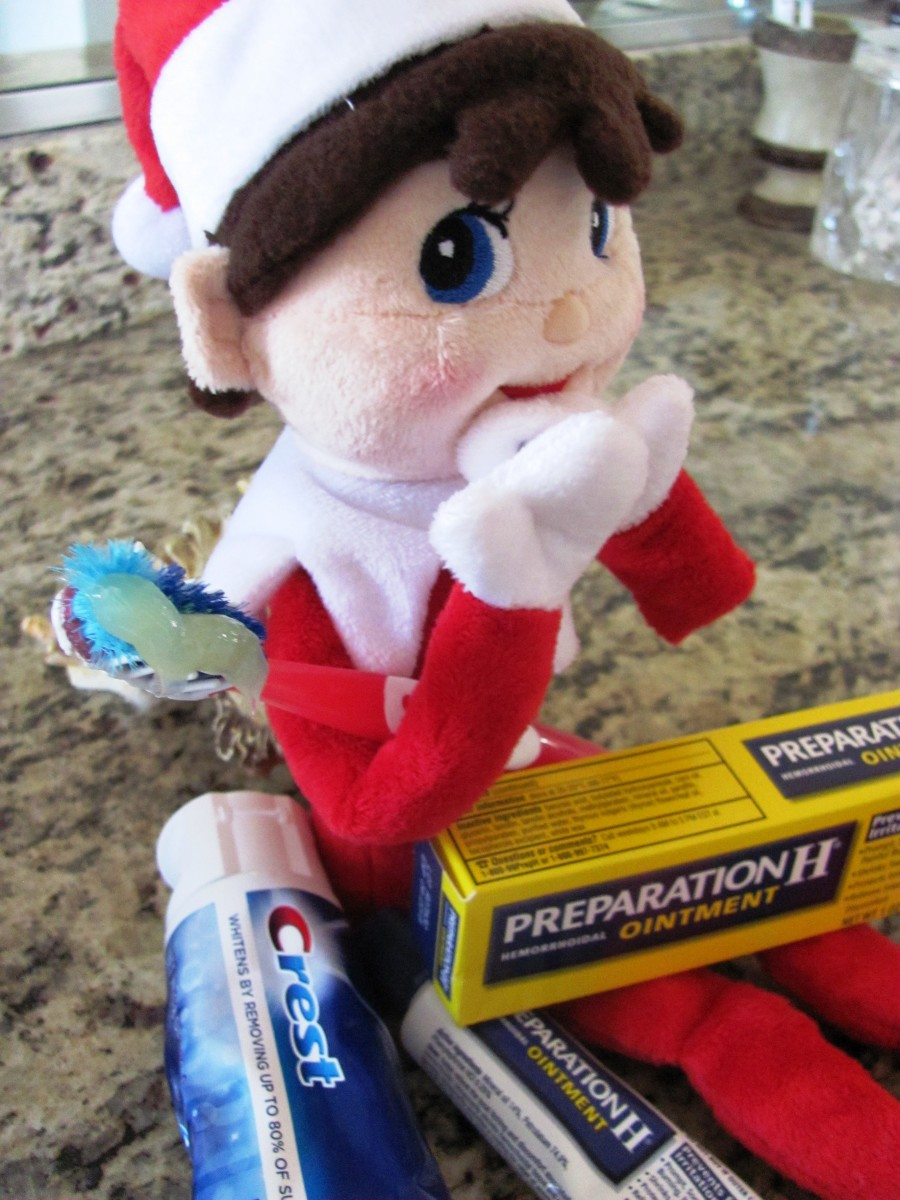 Santa's intern was caught switching the toothpaste and Preparation H (a hemerrhoid treatment cream).  At least your teeth won't itch.