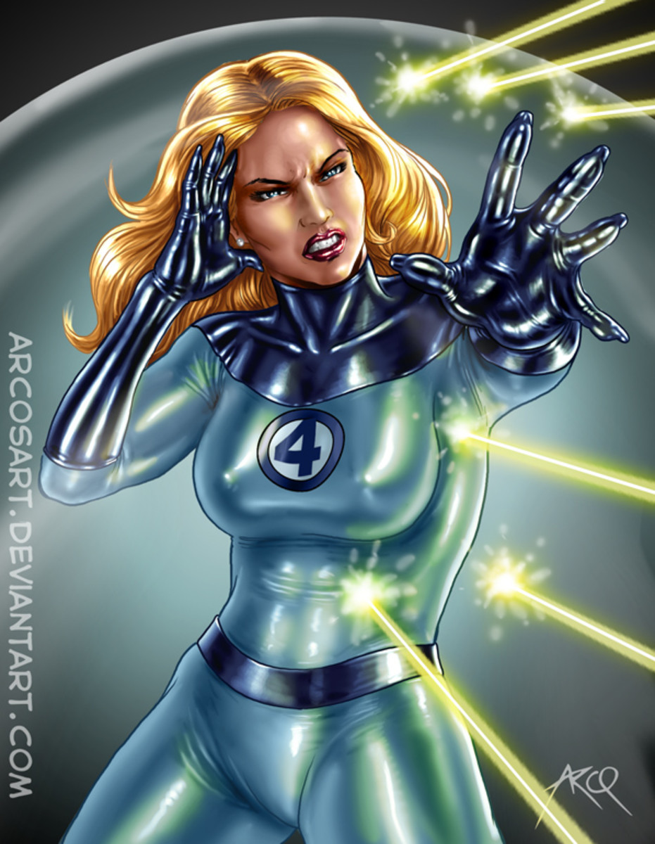 Though mainly Fantastic Four, she still has a part with the Avengers.