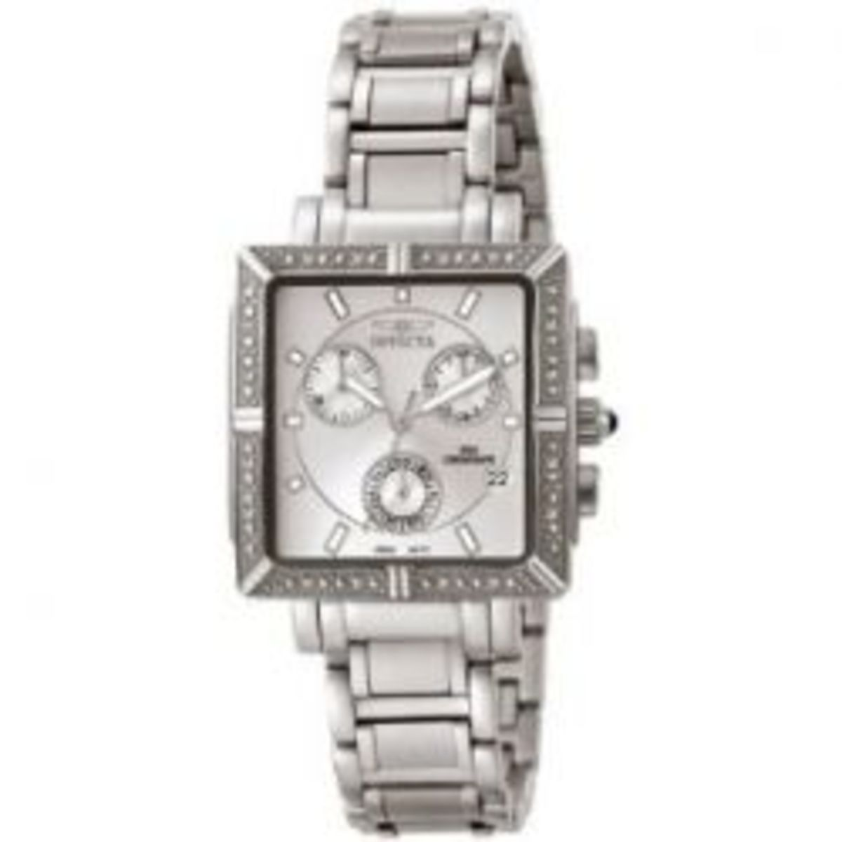Invicta Women's Square Angel Diamond Stainless Steel Chronograph Watch
