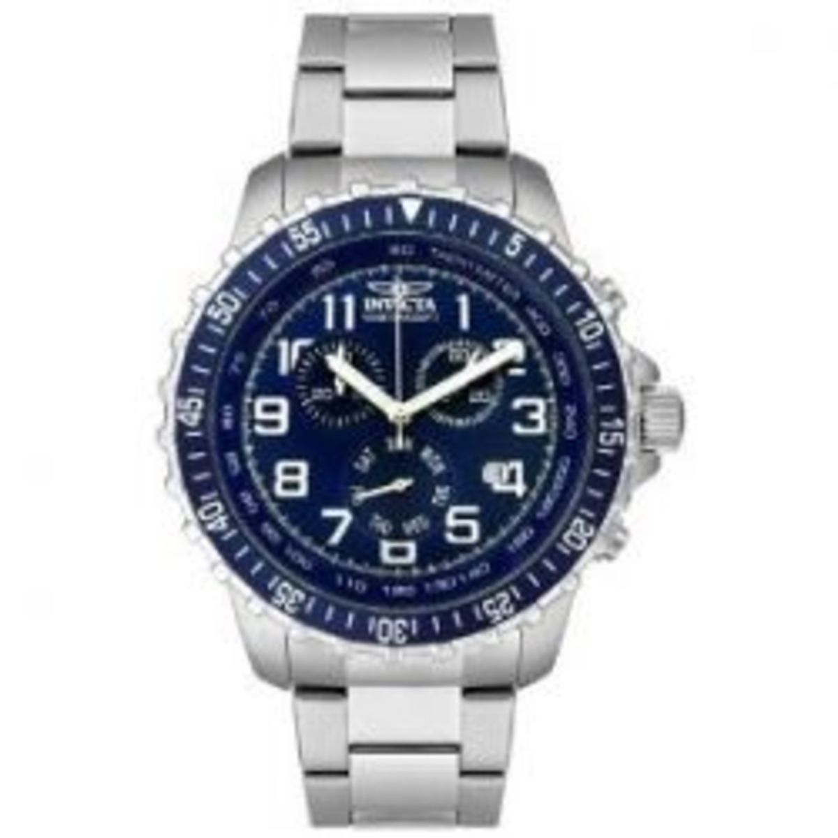 Invicta Men's II Collection Chronograph Stainless Steel Blue Dial.