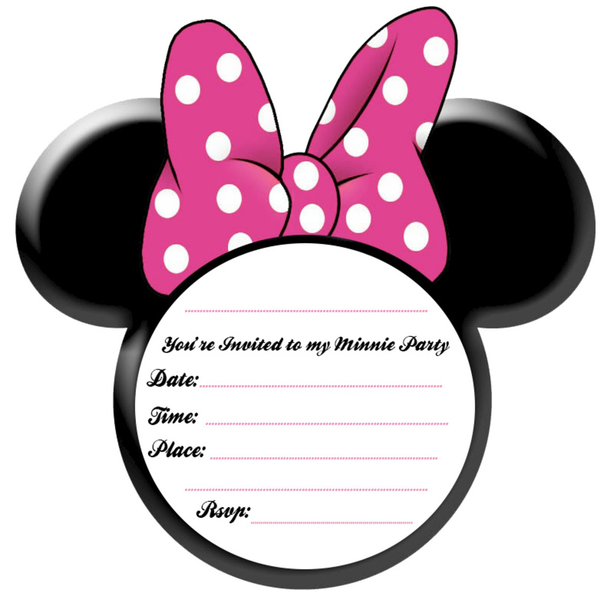 image relating to Minnie Mouse Template Printable named Minnie Mouse Social gathering Strategies and Totally free Printables Holidappy