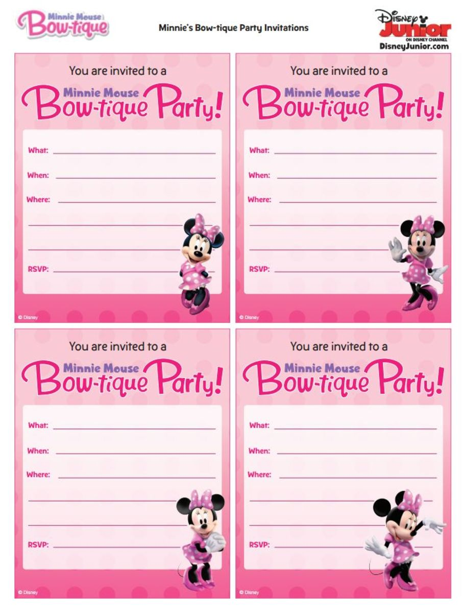 Printable party invitations.