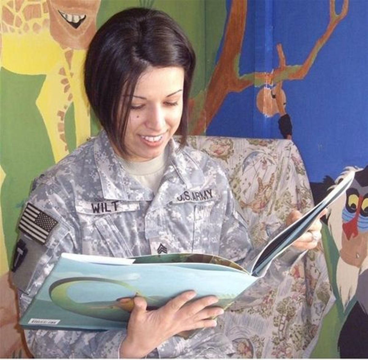 A Happy Reader by The U.S. Army
