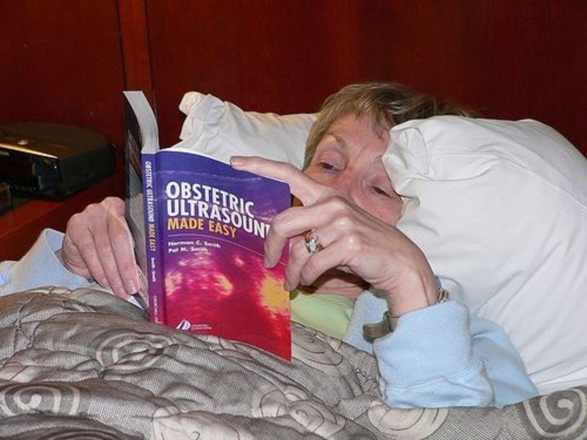 Reading a Boring Book by basykes