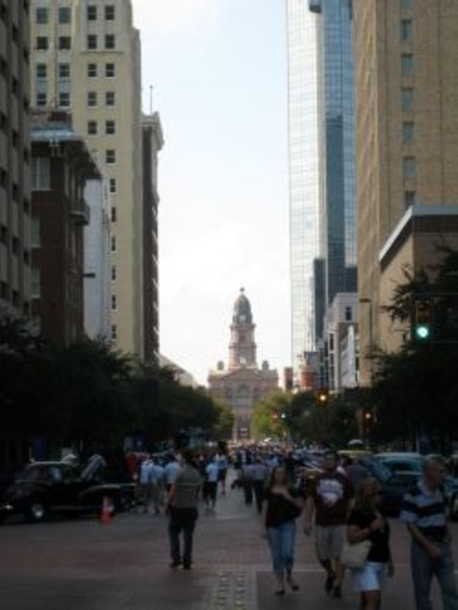 Downtown Fort Worth with Courthouse in the distance