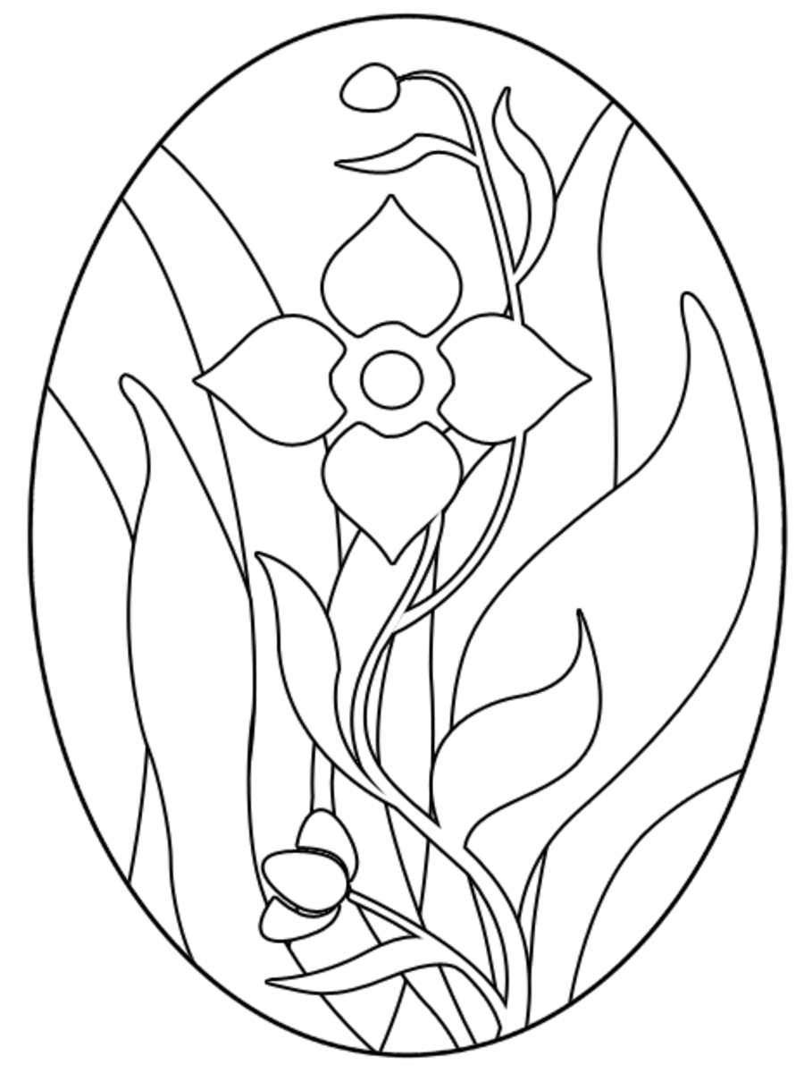 Easter Stained Glass Coloring Pages