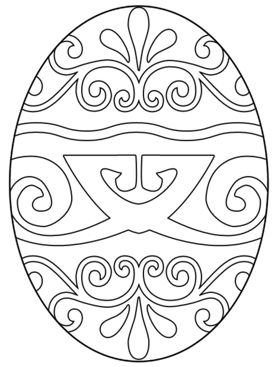Color this Easter egg yourself and make a masterpiece.