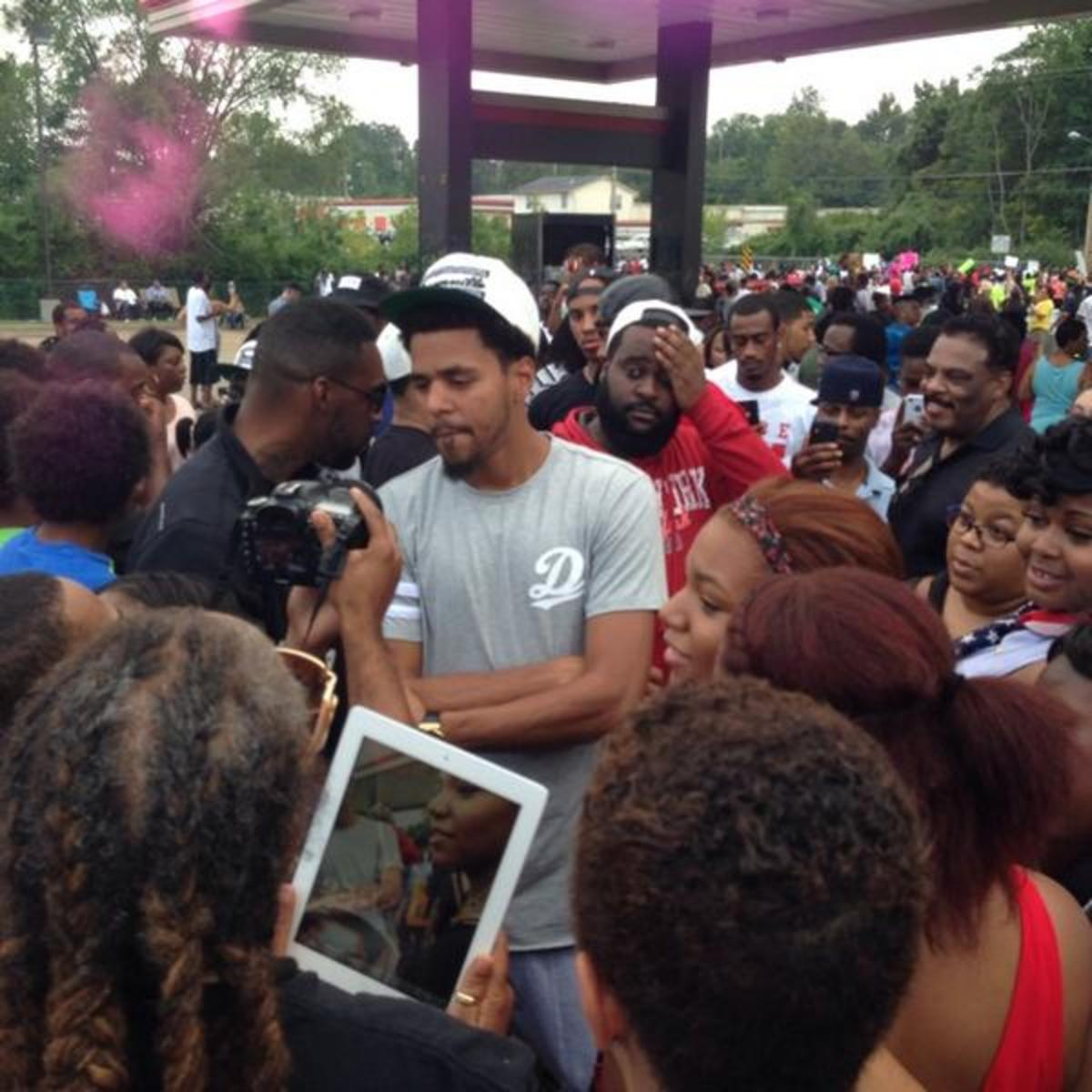 Cole proved he had something to say during the #Ferguson protests.  He just failed to say it as well as he could have,