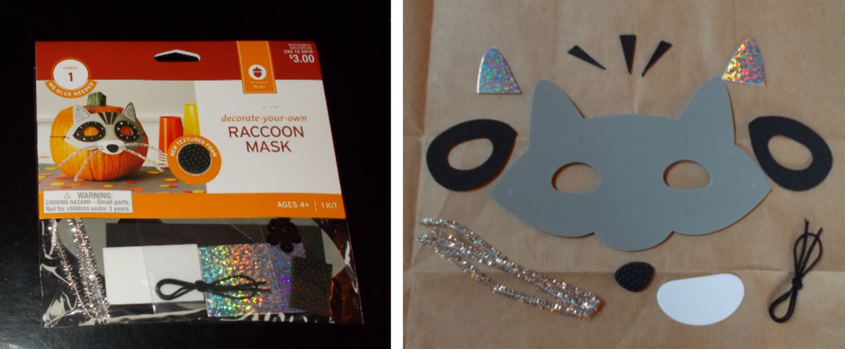 The raccoon mask kit found at Target. (2014)