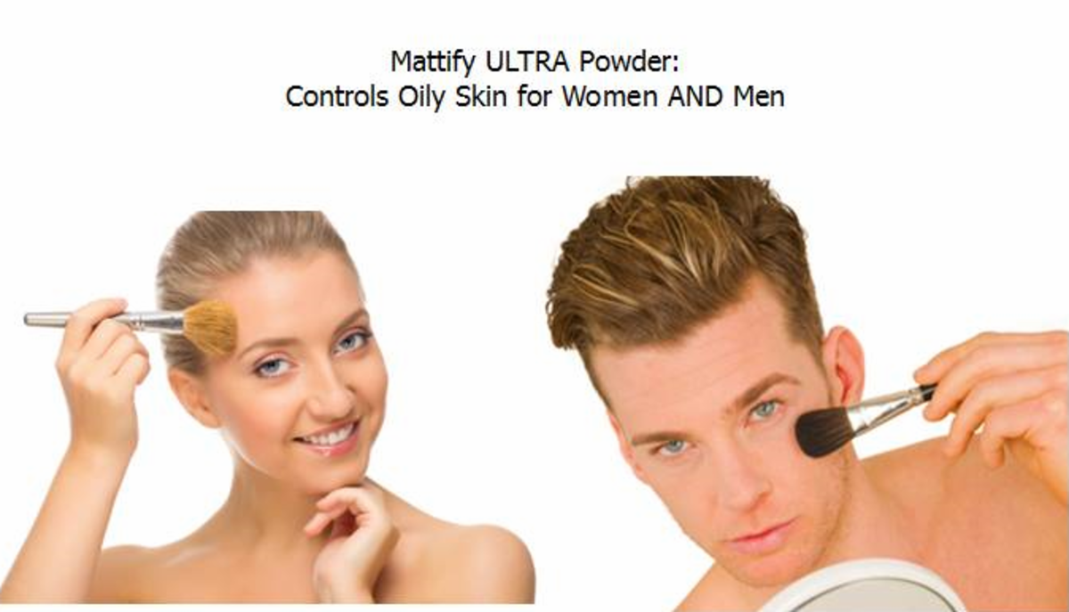 Mattify Ultra Powder ~ Invisible Oil Control Powder for Men & Women with Oily Skin