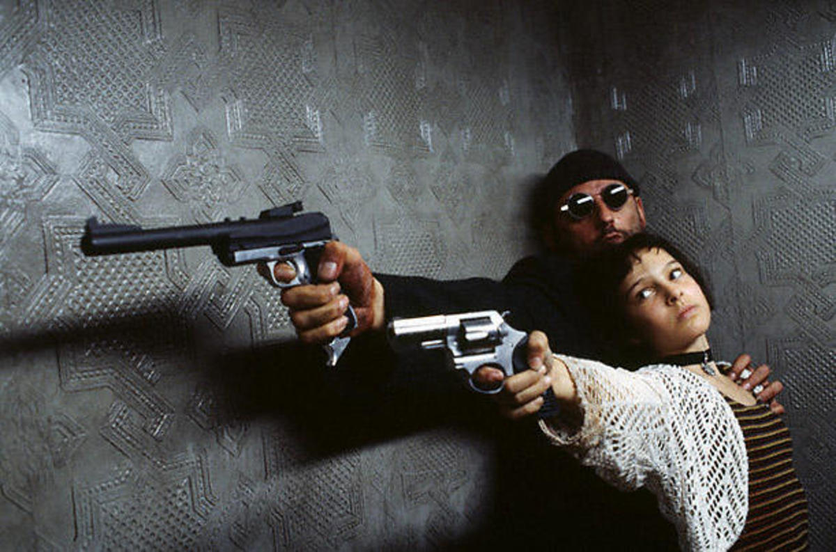 Jean Reno and Natalie Portman in Leon: The Professional, a film using the lone wolf and cub narrative trope.