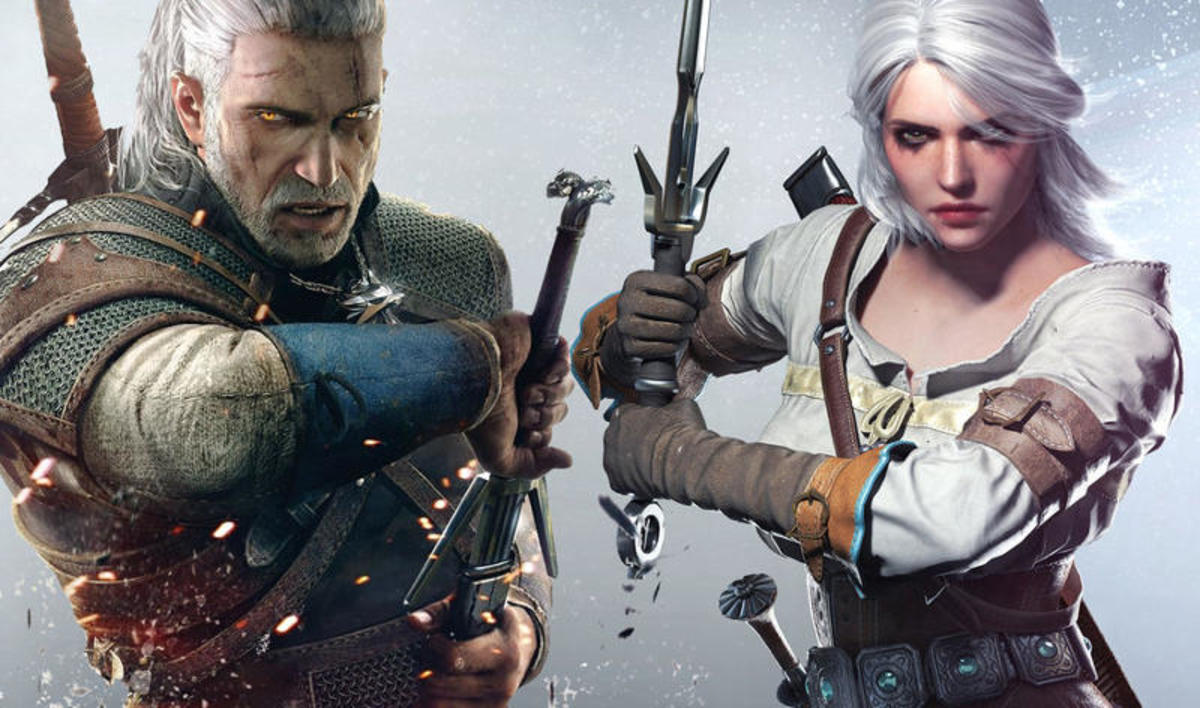 Geralt and Ciri as seen in The Witcher 3: Wild Hunt.
