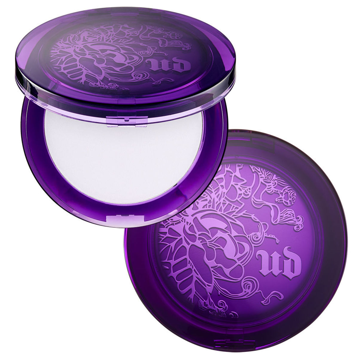 #9 Urban Decay's De-Slick Mattifying Powder comes in a beautiful purple compact.
