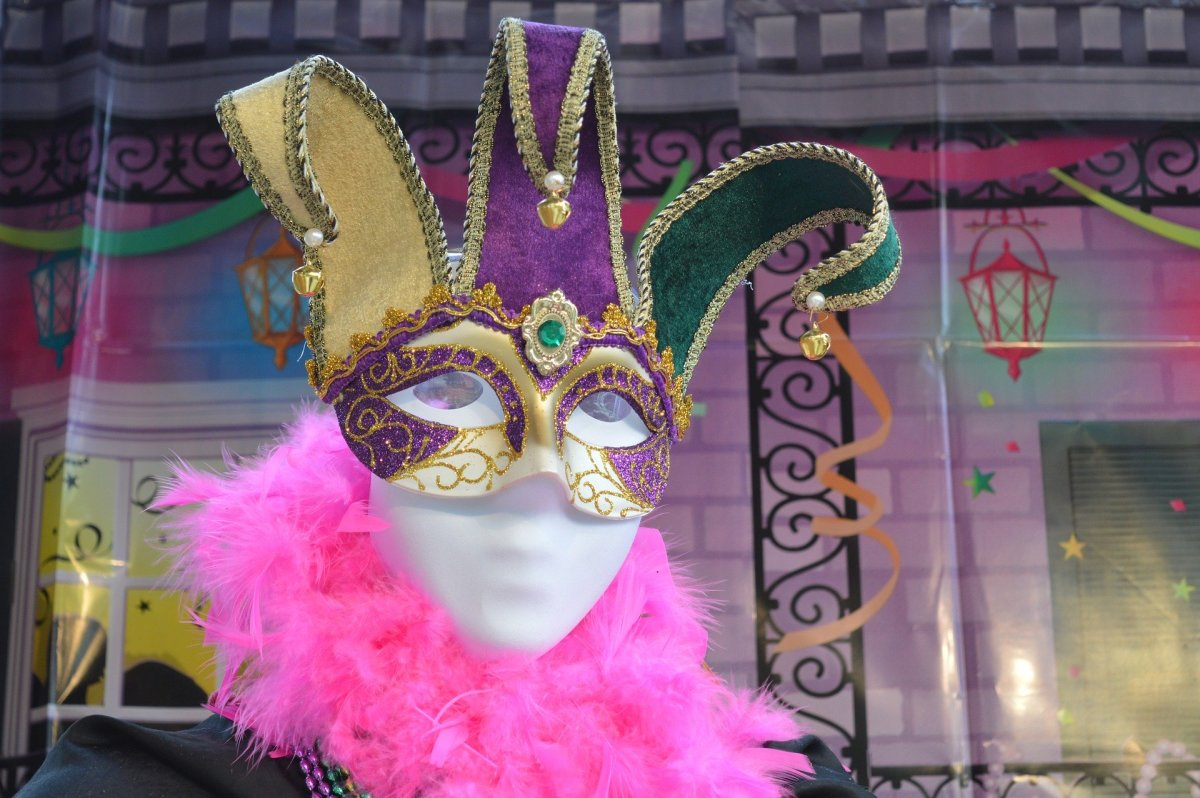 A Mardi Gras Carnival mask.