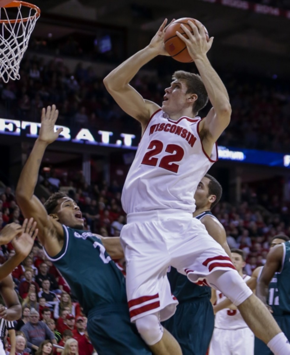 Ethan Happ will notice a few new faces in the huddle for Wisconsin.