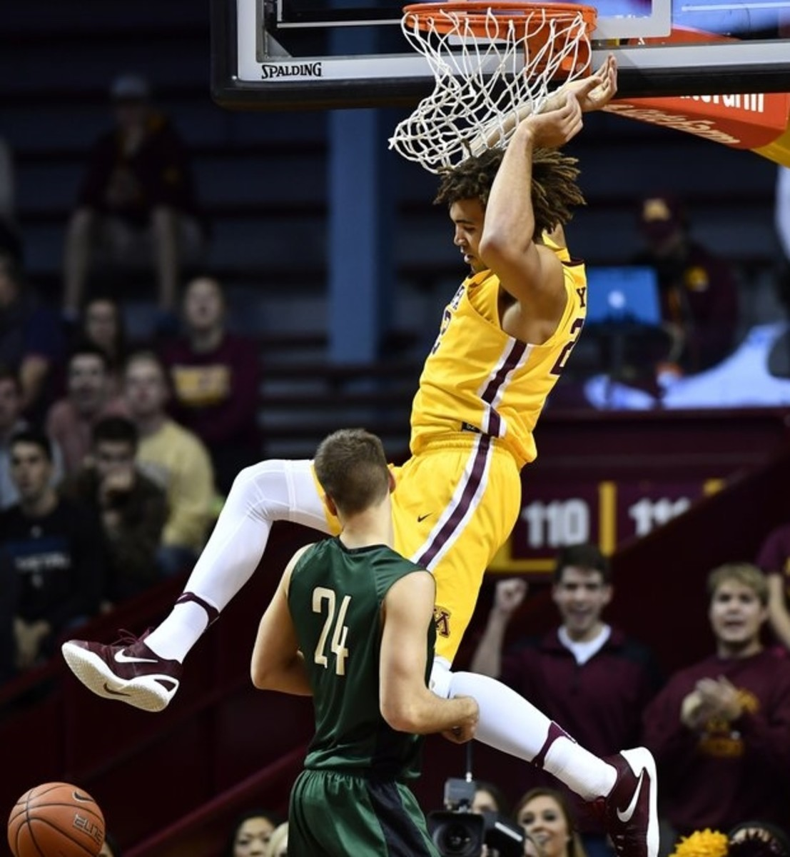Reggie Lynch dominates the defensive paint for the Gophers.