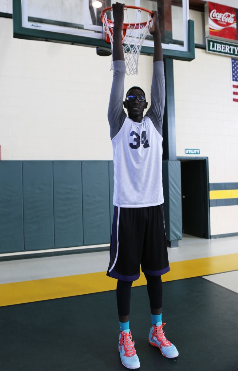 Tacko Fall is large, reasonably mobile, and improving.