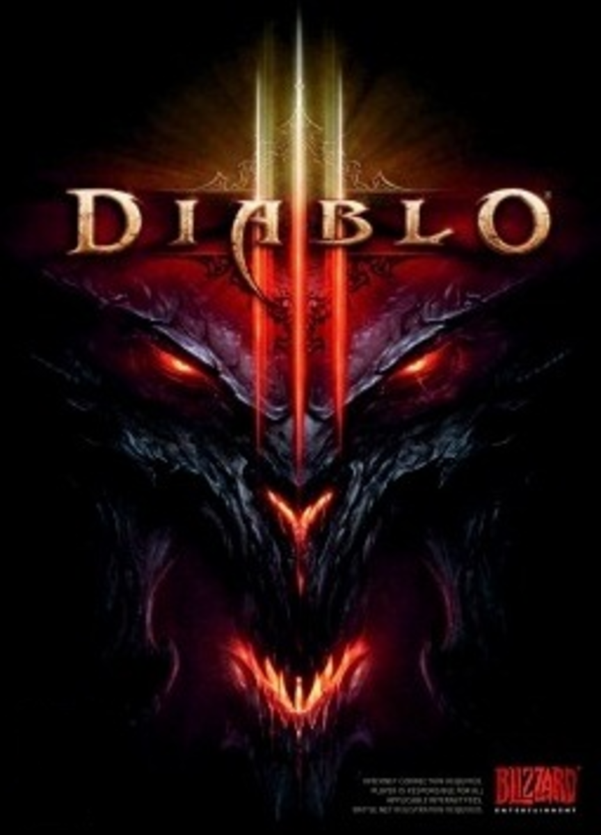 This is the cover art for Diablo III. The cover art copyright is believed to belong to Blizzard Entertainment.