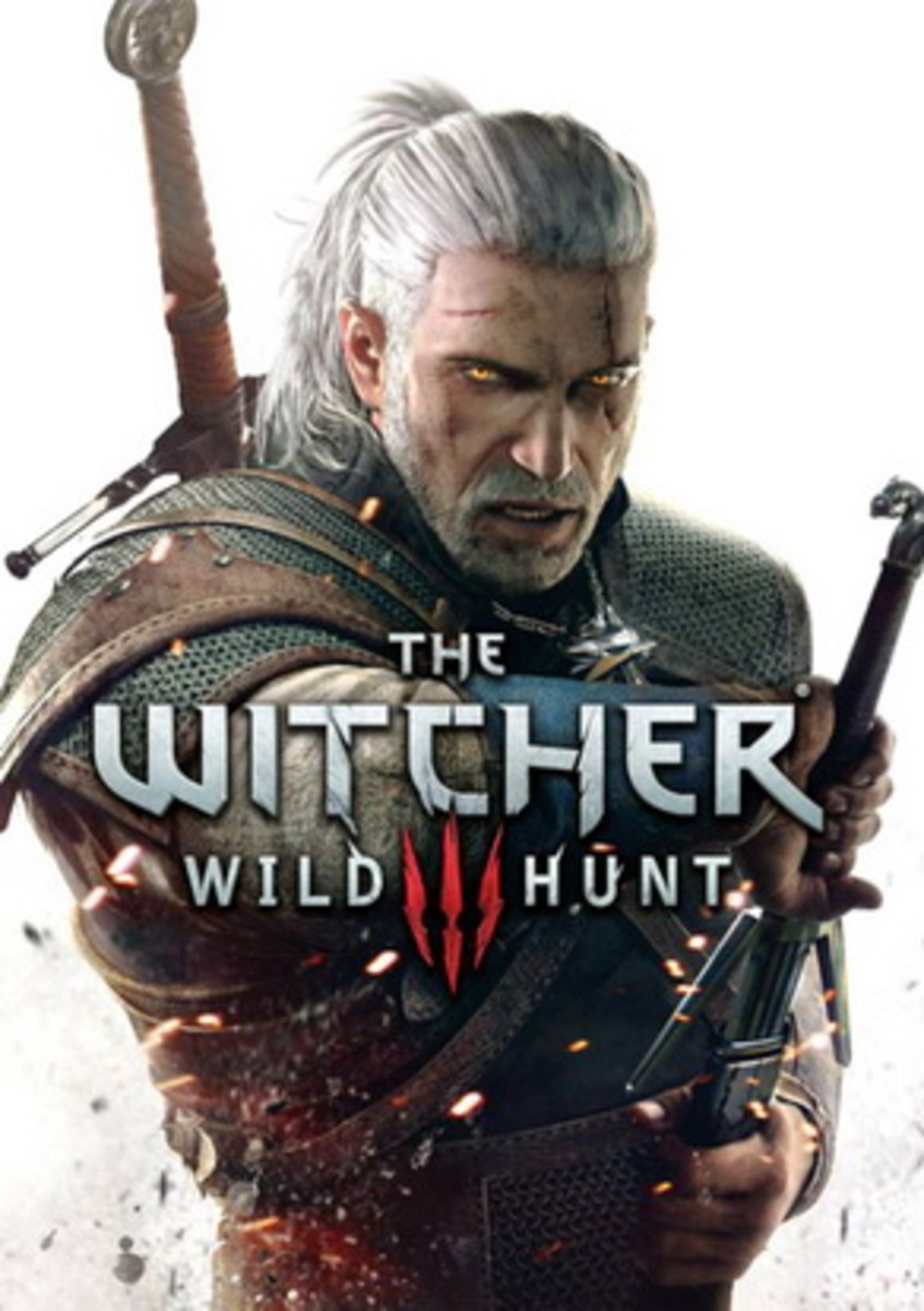 This is the cover art for The Witcher 3: Wild Hunt. The cover art copyright is believed to belong to the distributor of the game or the publisher of the video game or the developers, CD Projekt RED.