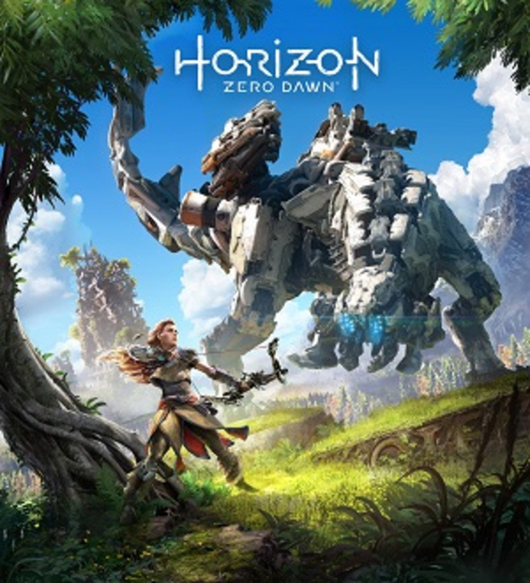 This is the cover art for Horizon Zero Dawn. The cover art copyright is believed to belong to Guerrilla Games / Sony Interactive Entertainment.