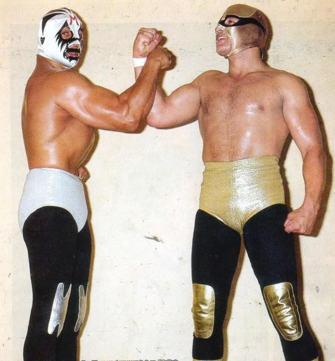 The legendary El Solitario with the legendary Mil Mascaras