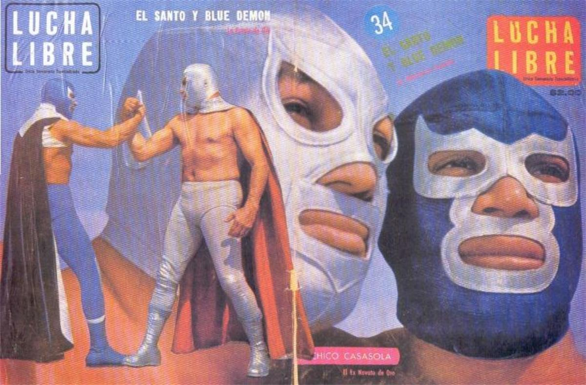 A poster of Santo and Blue Demon
