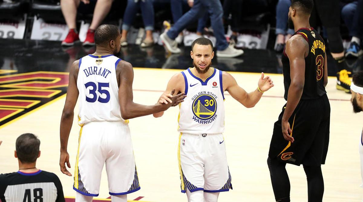 The Warriors faced the Cavaliers in the NBA Finals four consecutive years.