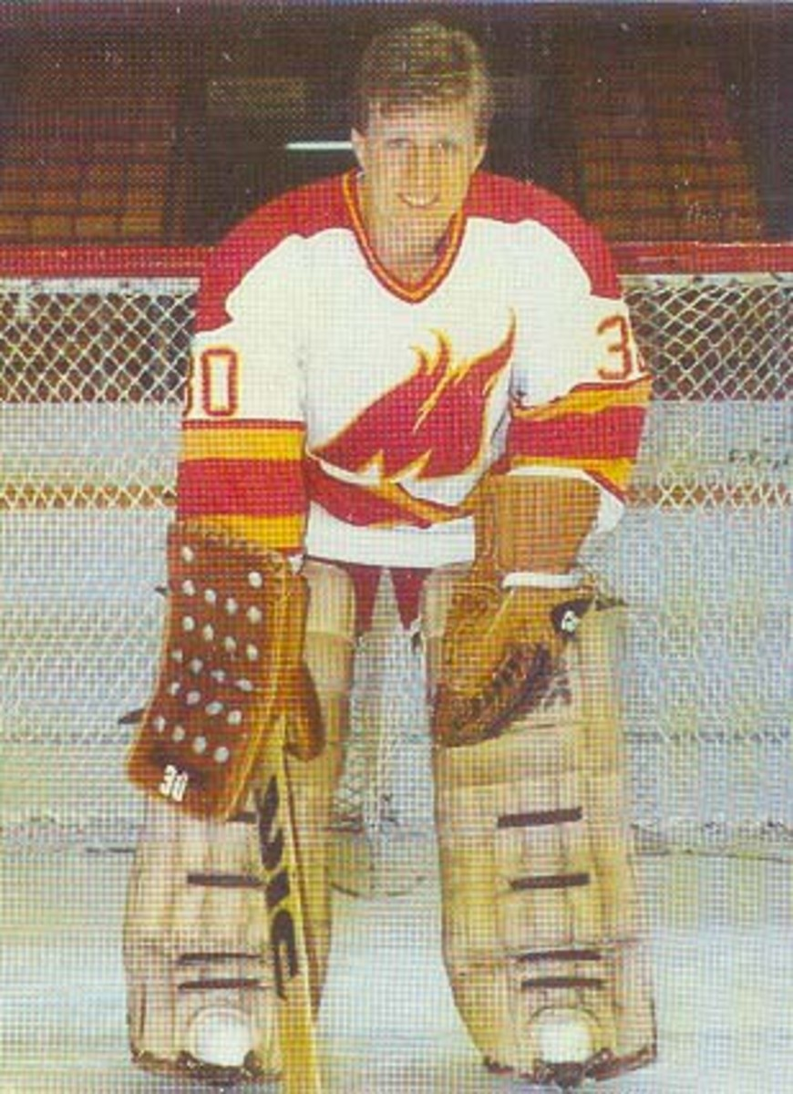Vernon with the Moncton Golden Flames