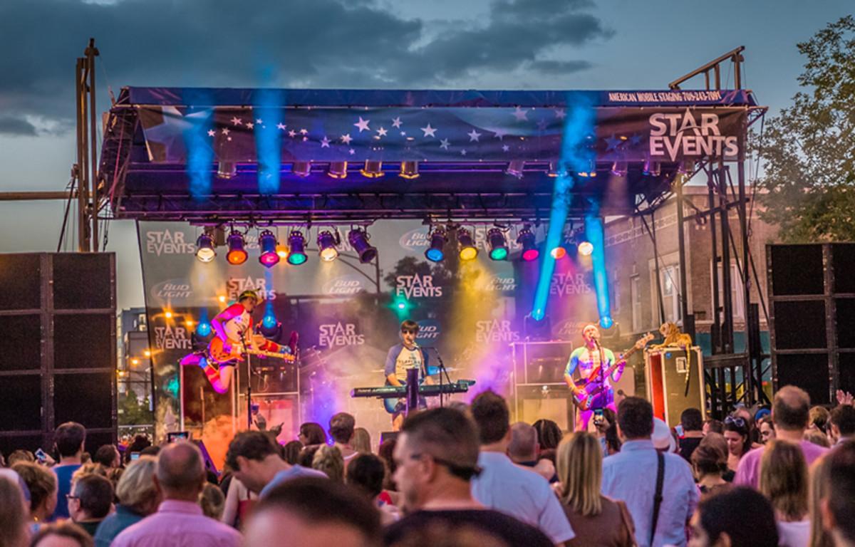 Festival goers enjoy a concert at Edge Fest
