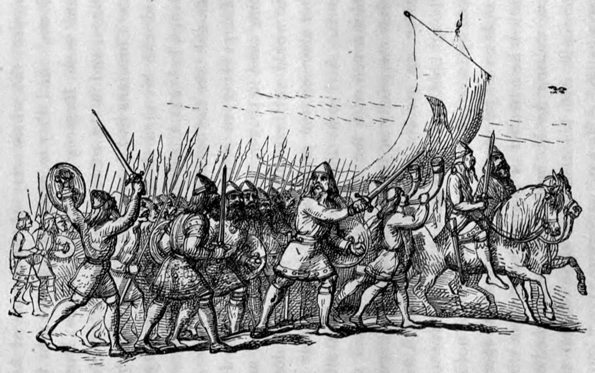 From Richard Doyle, The Vikings invading the Kingdom of Wessex.