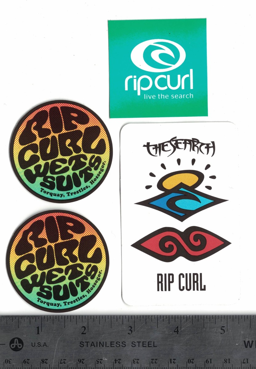For free stickers from rip curl send a self addressed stamped envelope to the address provided below