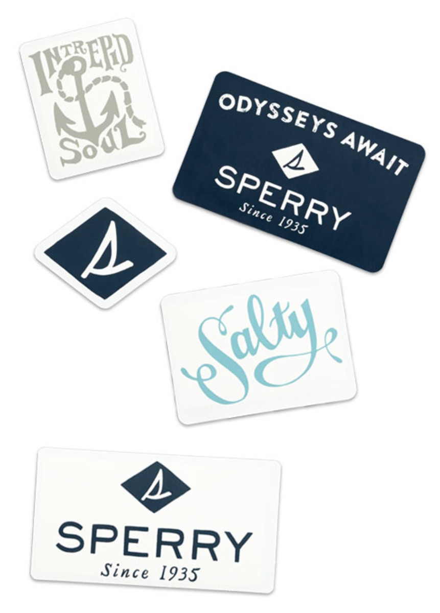 Free stickers from sperry