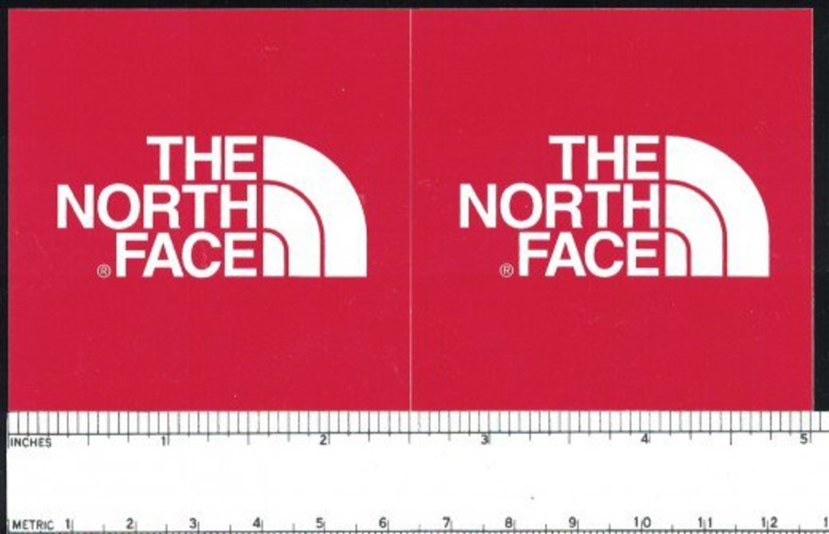 Free stickers from the north face