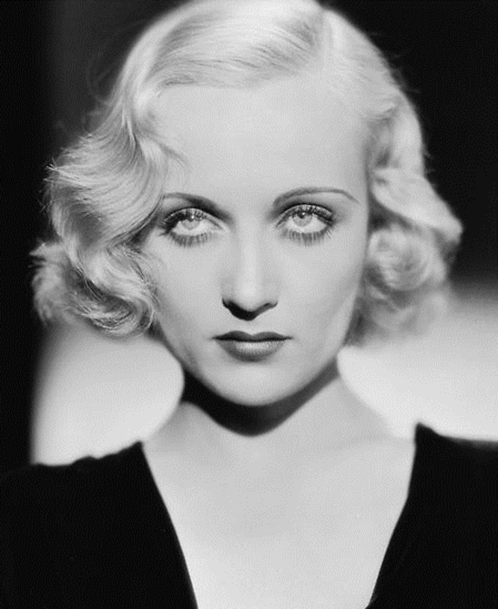 Carol Lombard 1930 curly hairstyle
