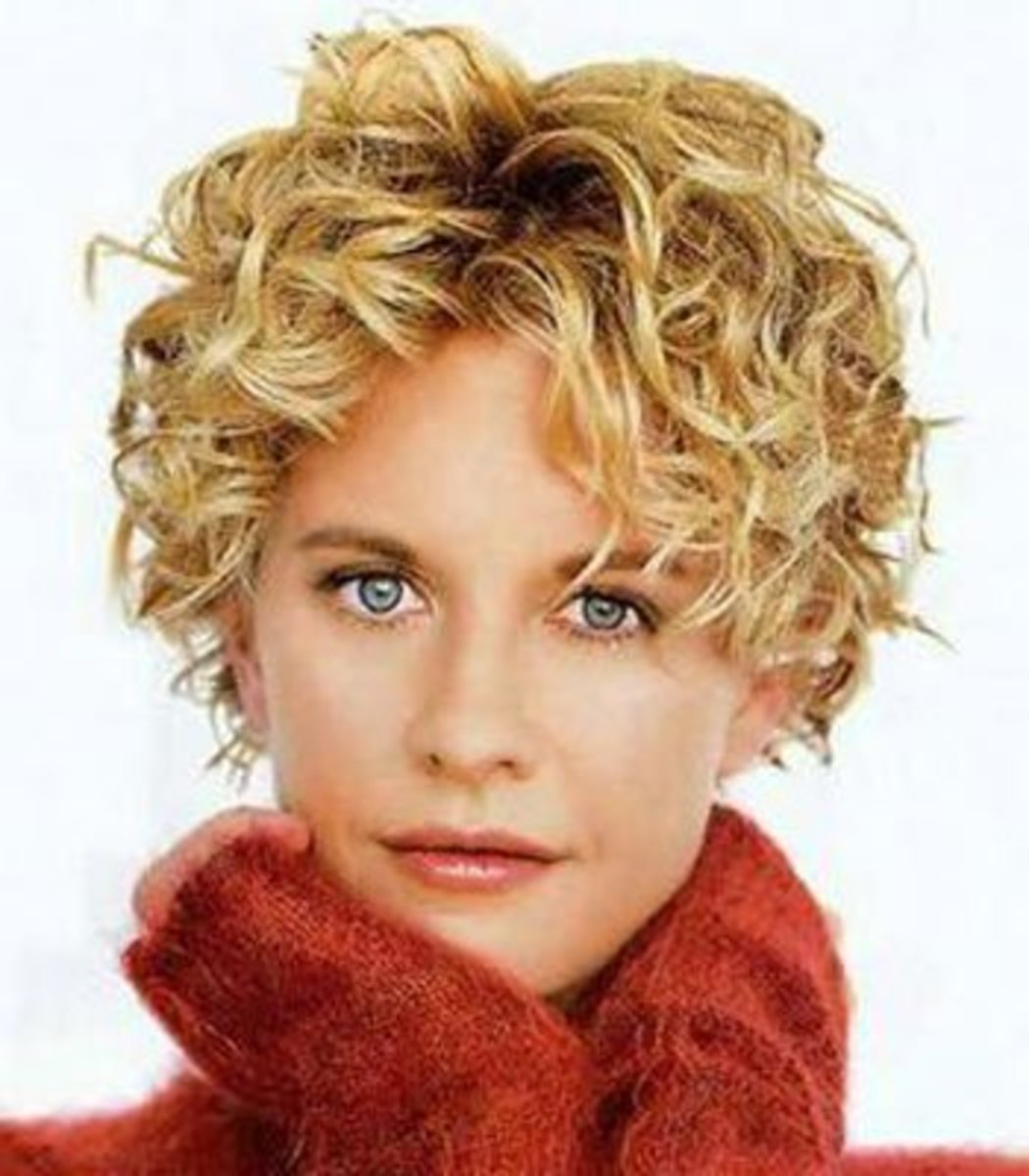 Meg Ryan: cute short curly hair